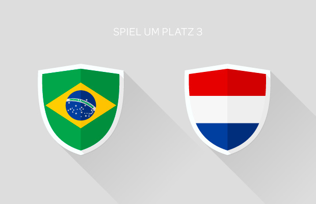 Fußball-WM: Spiel um Platz 3 - Brasilien vs. Niederlande