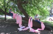 11. KunstTREFFpunkt: Performance ohne Titel (Pink Tube)