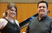 Heiligs Blechle: Manuel Kelber-Bender mit Janina Glaab
