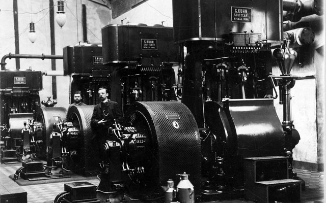 Ein alter Generator in der Centralstation Darmstadt