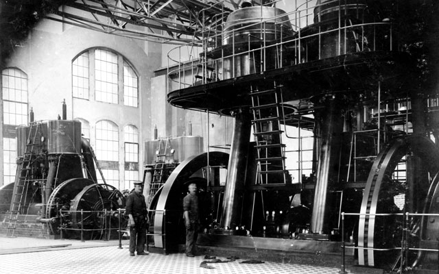 Die einstige Maschinenhalle