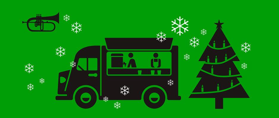 Foodtruck-Weihnachtsmarkt im Carree